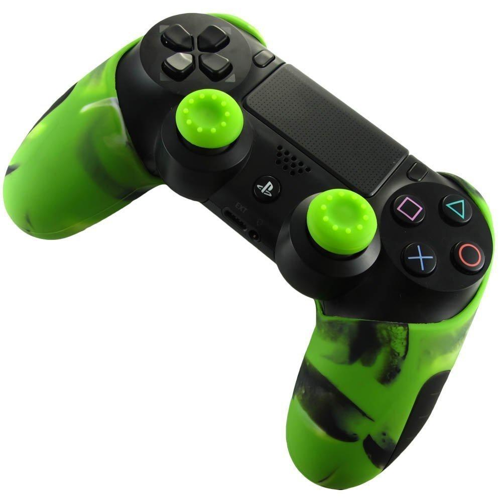PS4コントローラー用シリコンカバーで滑らなくなり快適にゲームができる